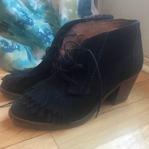 Madewell lace up oxfords bootie 8.5